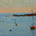 Boats At Smugglers Cove Boothbay Harbor Maine by Viktor Arsenov