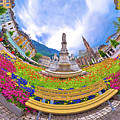 Bolzano Main Square Planet Perspective Panorama by Brch Photography