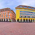 Bolzano Main Square Waltherplatz Panoramic View by Brch Photography