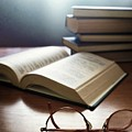 Books And Glasses by Carlos Caetano