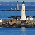 Boston Light And Graves Light by Bill Driscoll
