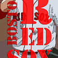 Boston Red Sox Original Typography  by Drawspots Illustrations