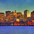 Boston Skyline Sunset by Joann Vitali
