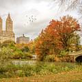 Bow Bridge In Autumn by June Marie Sobrito