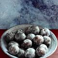 Bowl Of Plums Still Life by Sarah Black