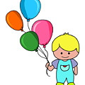 Boy With Balloons by Mokile