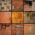 Bricks Collage  by Cathy Anderson