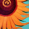 Bright Happy Sunflower by Margaret Harmon