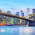 Brooklyn Bridge And The Lower Manhattan Skyline by Mihai Andritoiu