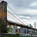 Brooklyn Bridge At Dusk by Carlos Alkmin
