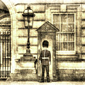 Buckingham Palace Queens Guard Vintage by David Pyatt