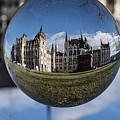 Budapest Globe - Houses Of Parliament by Gabor Tokodi