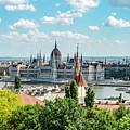 Budapest Skyline by Sharon Popek