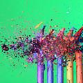 Bullet Hitting Crayons by Ted Kinsman