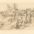 Burial In The Vendeen Marsh (un Enterrement Dans Le Marais Vendeen) by Auguste Lep?re