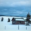 Cabin In The Snow by Carolyn Fox