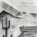 Cacti Sunset by J R Seymour