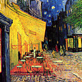 Cafe Terrace Place Du Forum At Night by Vincent Van Gogh