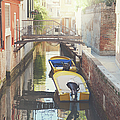 Canals Of Venice With Instagram Vintage Style Filter by Brandon Bourdages