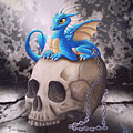 Captive Dragon On An Old Skull by Mary Hoy
