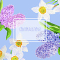 Card With Spring Flowers by Natalia Piacheva