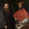 Cardinal Ippolito De Medici And Monsignor Mario Bracci by PixBreak Art