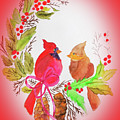 Cardinals Painted By Linda Sue by Linda Sue Bruton