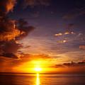Caribbean Sunset Dominica by Thomas R Fletcher