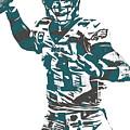Carson Wentz Philadelphia Eagles Pixel Art 5 by Joe Hamilton