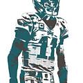 Carson Wentz Philadelphia Eagles Pixel Art 6 by Joe Hamilton