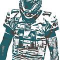 Carson Wentz Philadelphia Eagles Pixel Art 7 by Joe Hamilton