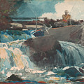 Casting In The Falls by Winslow Homer