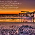 Castles In The Sand 2 Tybee Island Pier Sunrise by Reid Callaway