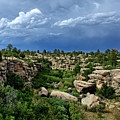 Castlewood Canyon And Rain by Timothy Ruf
