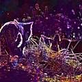 Cat Mieze Kitten Mackerel Red Cat  by PixBreak Art