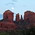 Cathedral Rock Moon 081913 A2 by Edward Dobosh