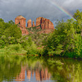 Cathedral Rock Rainbow by Craig Voth