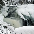 Cattyman Falls In Winter by Larry Ricker