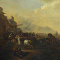 Cavalry Attacking A Fortified Place by Hendrick Verschuring