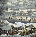 Central Park In Winter by Currier and Ives
