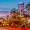 Charlotte City Skyline Early Morning At Sunrise by Alex Grichenko