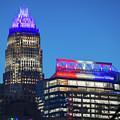 Charlotte North Carolina Skyline City View by Alex Grichenko