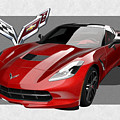 Chevrolet Corvette  C 7  Stingray With 3 D Badge  by Serge Averbukh