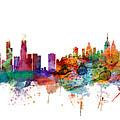Chicago And New York City Skylines Mashup by Michael Tompsett