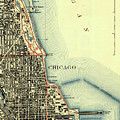 Chicago Old Map by Drawspots Illustrations