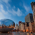 Chicago Skyline And Bean At Sunrise by Sven Brogren