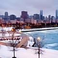 Chicago Skyline In Winter by Paul Velgos