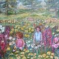 Children Amongst Flowers by Joseph Sandora Jr