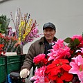 Chinese Bicycle Flower Vendor On Street Shanghai China by Imran Ahmed