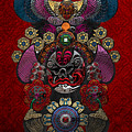 Chinese Masks - Large Masks Series - The Demon by Serge Averbukh